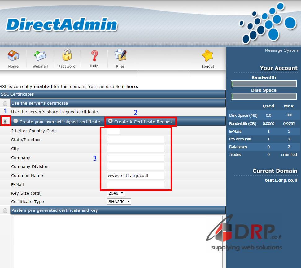 Create A Certificate Request